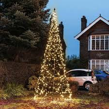 4 2m fairybell outdoor pre lit tree 640 warm white leds