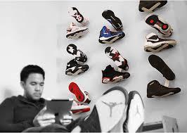 sneaker designer flotspotting shrine shoe rack brings hip sneaker boutique chic