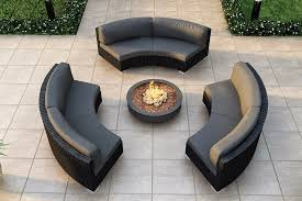 Rattan Curved Sofa Make Wood Curved Outdoor Furniture Home Designing