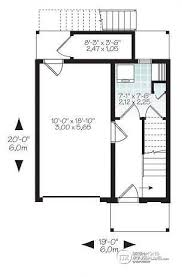 Narrow Modern House Plans House Plan W1701 Detail From Drummondhouseplans Com