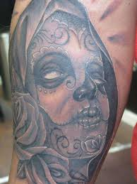 dia de los muertos skull tattoos meaning hd design idea
