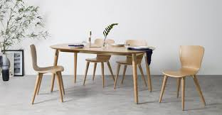 edelweiss extending dining table ash and brass made com