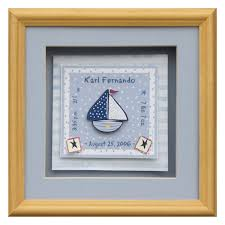 baby shadow box baby shadow box sailboat personalized baby boy gifts