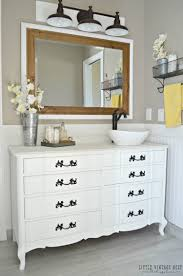26 Inch Bathroom Vanity by Old Dresser Turned Bathroom Vanity Tutorial