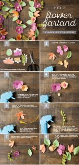 felt flower garland lia griffith
