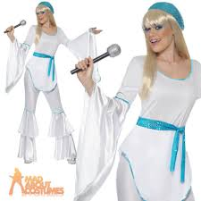 Super Troopers Halloween Costume Super Trooper Abba Agnetha 70s Ladies Womens Fancy Dress