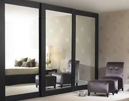 Sliding mirrored closet doors get an updated look installed floor to