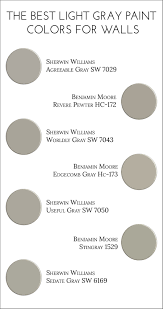 Colors For Walls The Best Light Gray Paint Colors For Walls Jillian Lare