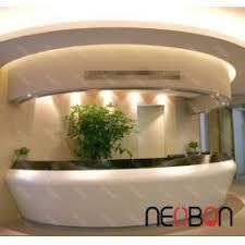 Led Reception Desk Modern Beauty Salon Reception Desk Led Logo Round Reception Desk