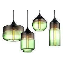 green glass pendant lights blue green glass pendant lighting modern flash blown shade runsafe