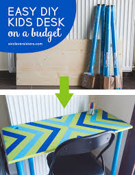Small Childrens Desk Easy Diy Desk On A Budget Six Clever