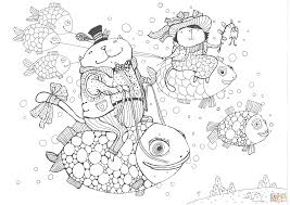 cats fly fish coloring page free printable coloring pages