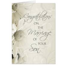 wedding congratulations parents of the groom wedding congratulations card zazzle co uk