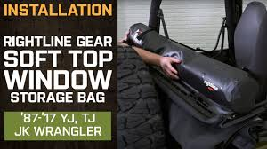 Rightline Gear Car Clips by Install Jeep Wrangler Rightline Gear Soft Top Window Storage Bag