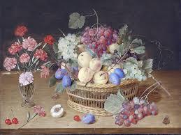 a still life with carnations fruits tile mural kitchen backsplash