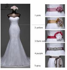 wedding dresses belts poemssongs 2017 high quality lace white dress and six colors