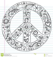 cool easy peace sign drawings templates zentangles and