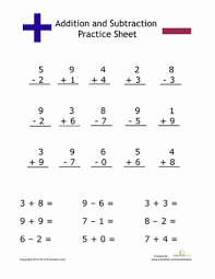 simple addition and subtraction worksheet education com