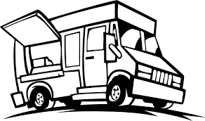 food truck coloring wecoloringpage