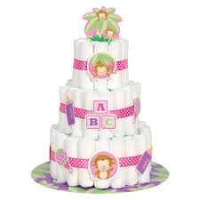 monkey baby shower diaper cake kit baby shower decorations
