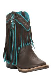 cavenders black friday sale m u0026f toddler brown with turquoise fringe square toe boots