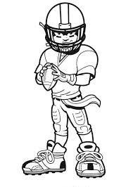 Coloring Pages Football Players Kids Football Poster