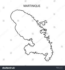 Martinique Map Martinique Map Outline Stock Illustration 399708046 Shutterstock