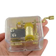 Unique Music Boxes Unique Musical Box Acrylic Hand Crank Movement Melody Music Box U2013 Gold