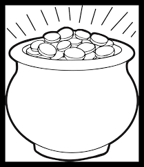 rainbow pot of gold coloring pages activity pages bear painting rainbow pot of gold coloring page