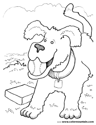 dog baseball coloring page create a printout or activity