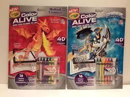 crayola color alive 4d coloring book lot of 2 barbie u0026 enchanted