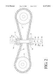 patent us6117034 floating flexible drive element tensioner