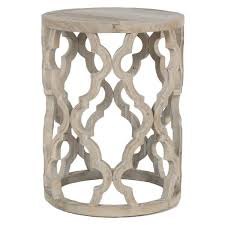 distressed wood end table distressed moroccan wood end table