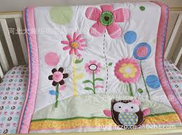 Baby Coverlet Sets Aliexpress Com Buy 6pcs Pure Cotton Baby Bedding Set Embroidery