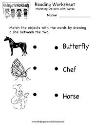 english worksheet for kindergarten worksheets