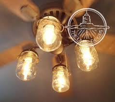 Light Bulbs For Ceiling Fans Mason Jar Ceiling Fan Light Kit With Vintage Pints The Lamp Goods