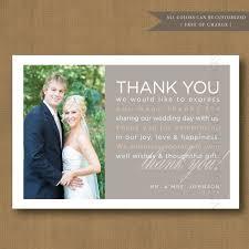 wedding thank you cards amazing wedding gift thank you card