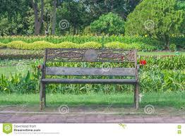 Metal Garden Chair Metal Garden Chair In Public Park Stock Photo Image 82508626