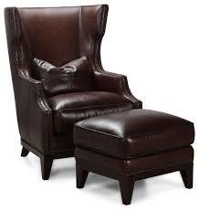 Accent Chair And Ottoman Simon Li Antique Espresso Leather Accent Chair And Ottoman Set