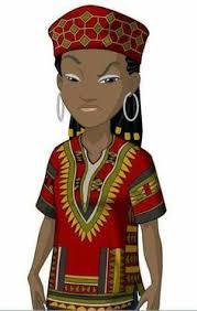 beautiful cartoon women art the african wrapper original fine art for sale adebanji alade