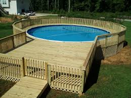 deck designs for above ground pools intended for house