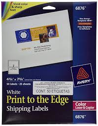 amazon com avery color printing 4 3 4 x 7 3 4 inch white labels