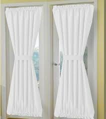 White Cotton Curtains Solid White Or Ivory French Door Curtains Custom Sized