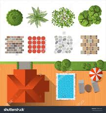 detailed landscape design elements make your own plan top view