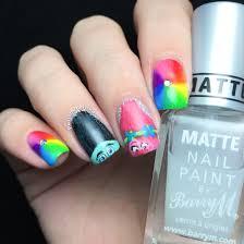 polished inka dreamworks trolls movie nail art nails