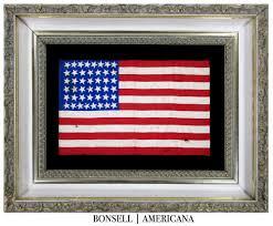 Us Flag 1860 44 Star Antique American Flag Wyoming Statehood Circa 1890