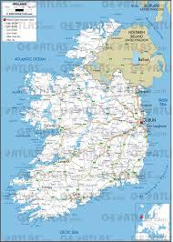 Pdf Maps Geoatlas Countries Ireland Map City Illustrator Fully