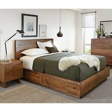 bedroom stylish and also interesting wooden bed with drawers