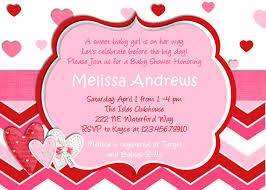 chevron hearts valentine baby shower invitation hearts you