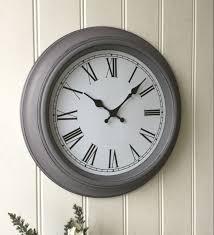 shabby chic large french grey wall clock u2013 amazing grace interiors